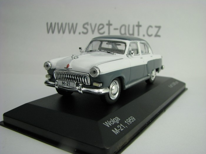 Volha M-21 1959 White Grey 1:43 White Box